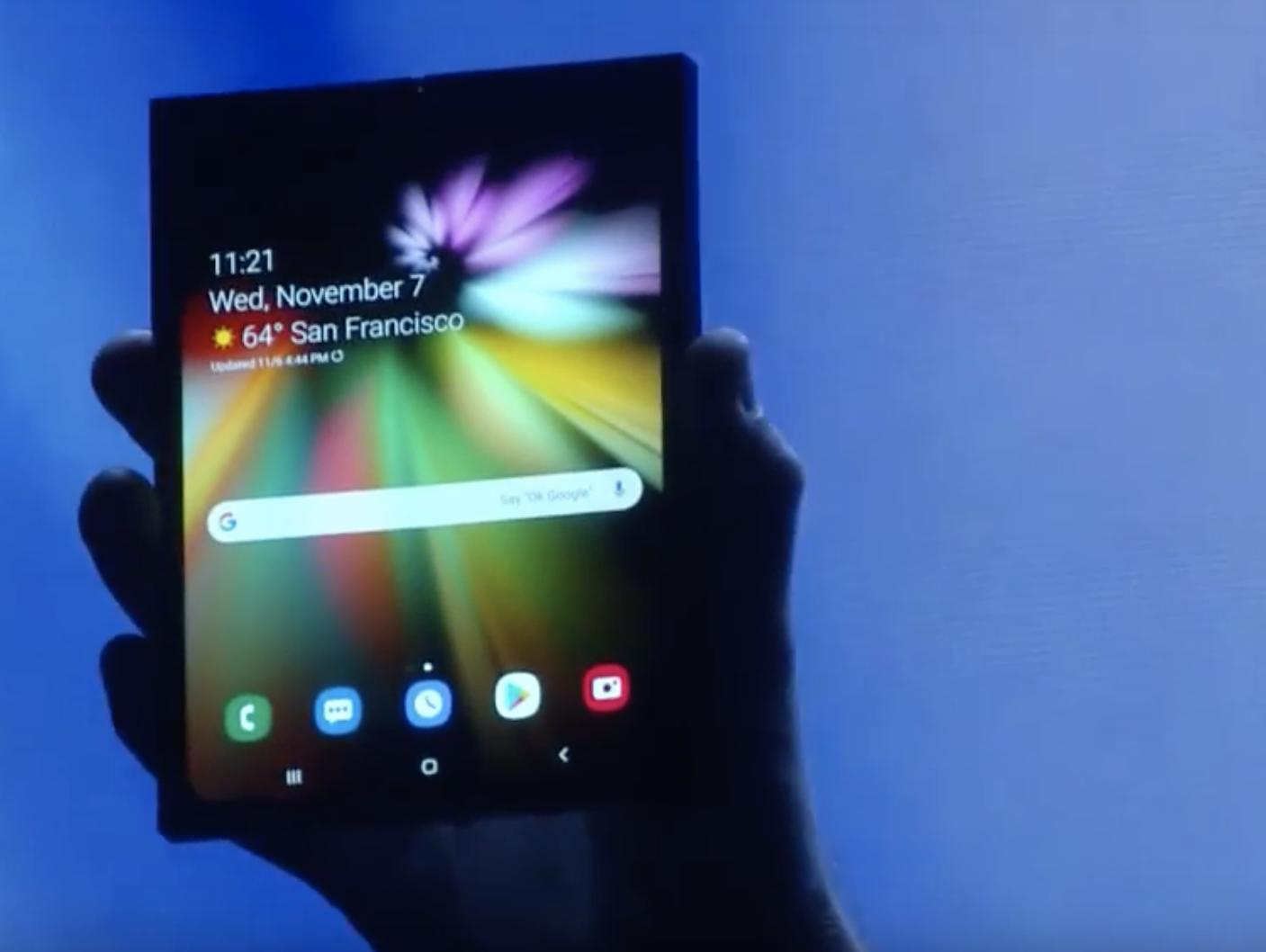 הסוף לשמועות: סמסונג מציגה את הסמארטפון המתקפל