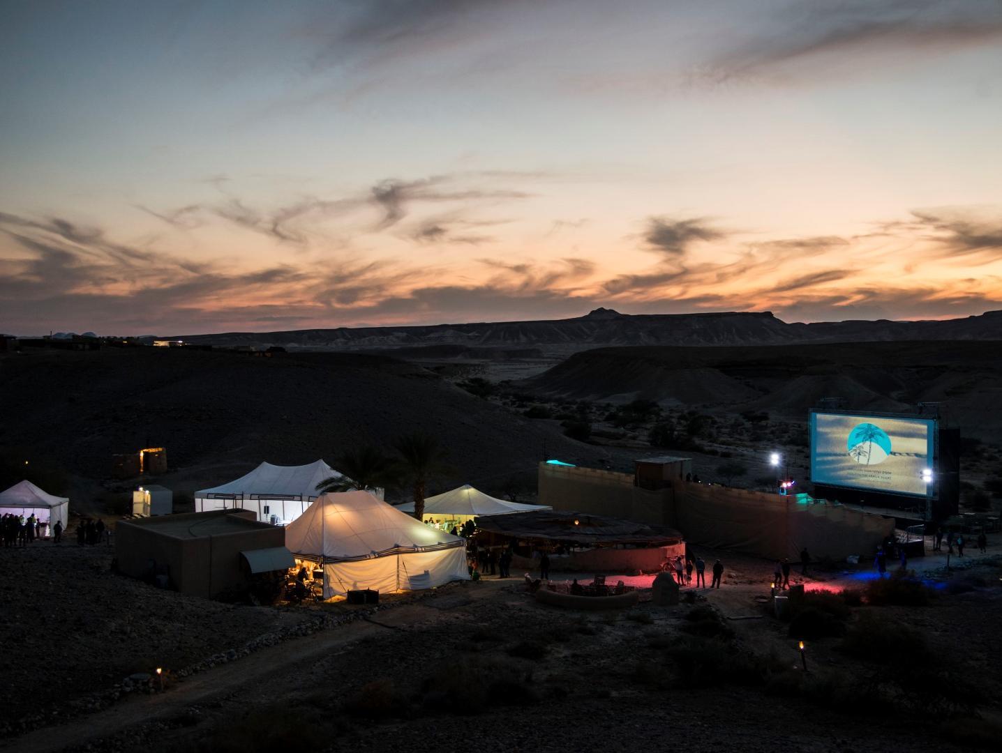 בסוף המדבר יש שם: בפסטיבל סרטים בערבה יש משהו שלמעט פסטיבלים בעולם יש