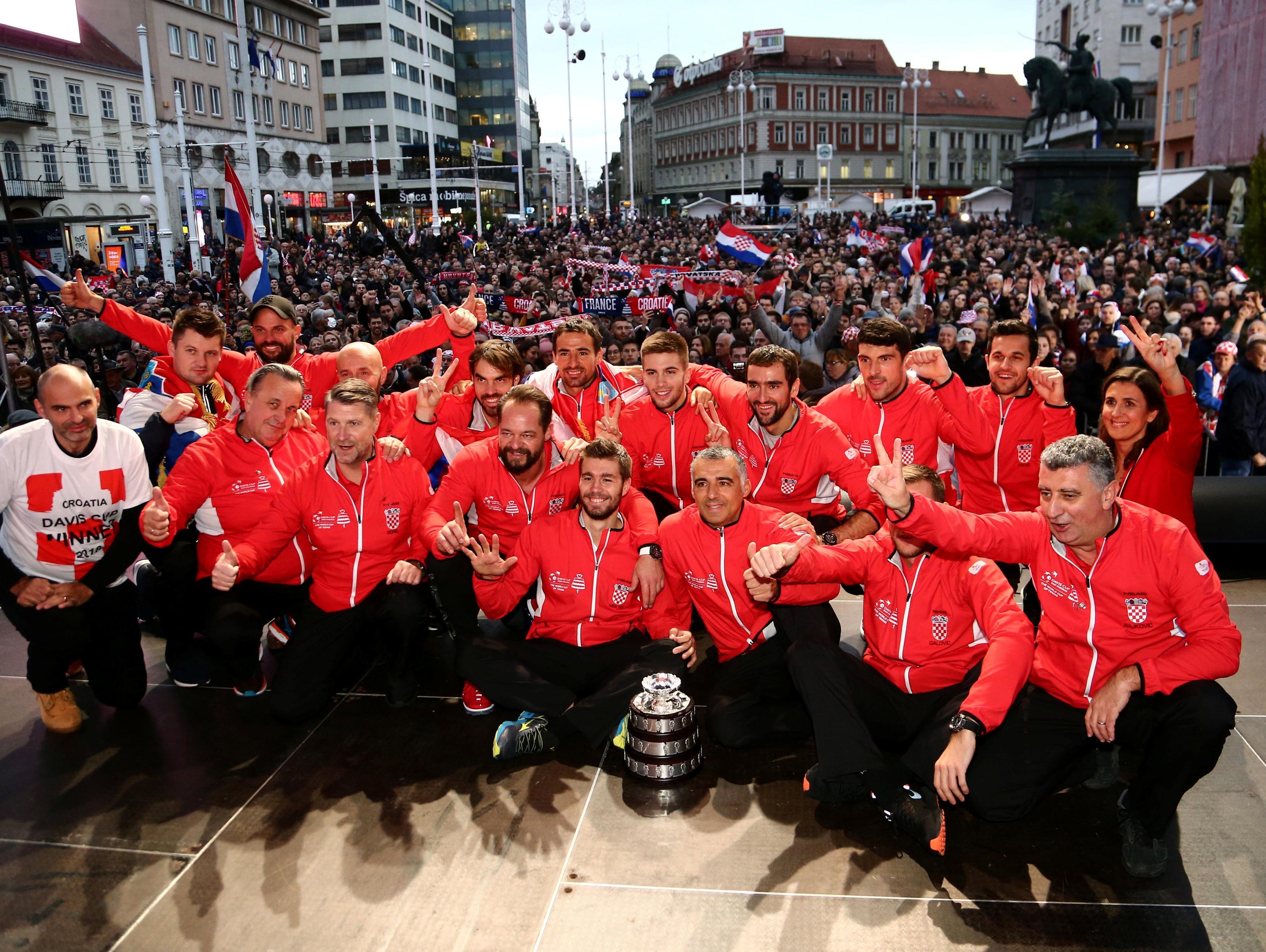 אלפי אוהדים קיבלו את נבחרת קרואטיה, צ'יליץ':