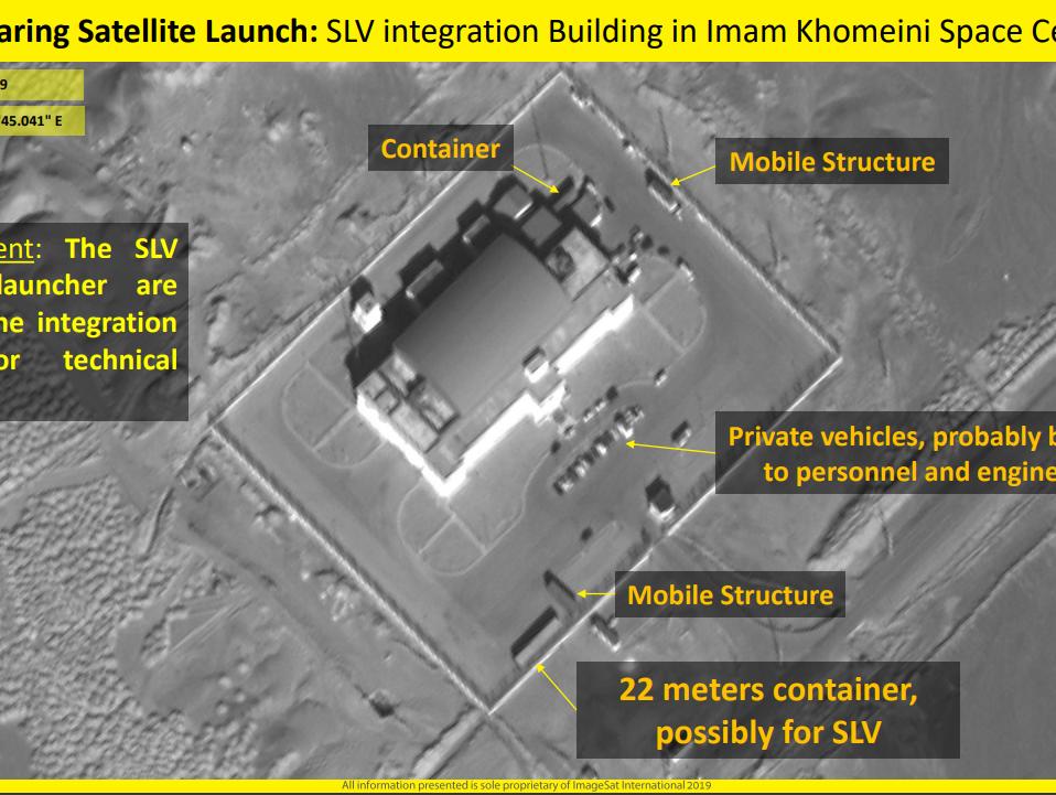 התצלומים חושפים: איראן מתכוננת לשיגור שני לוויינים לחלל