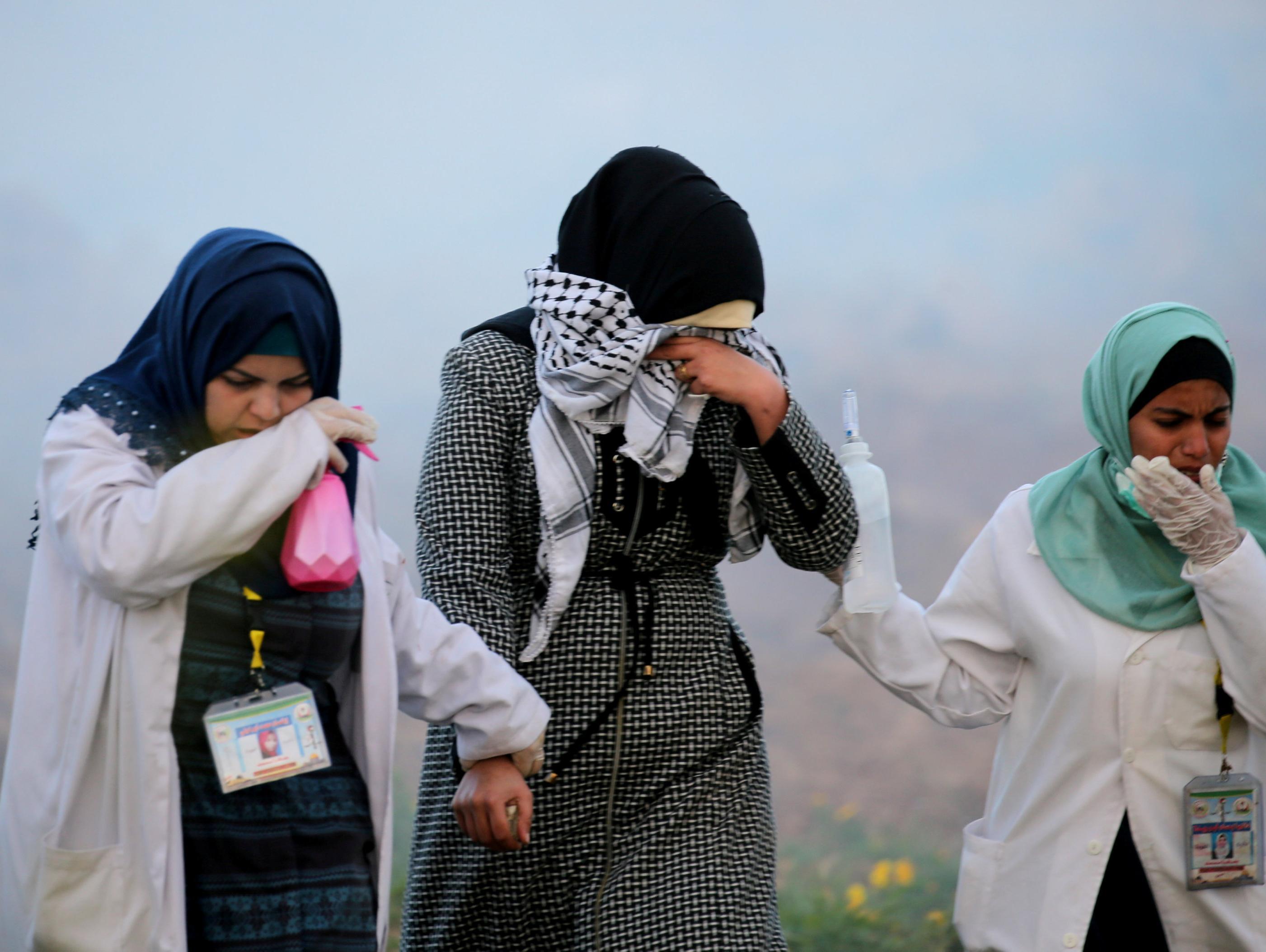 ברקע המגעים מול חמאס: אלפי מפגינים בגבול רצועת עזה