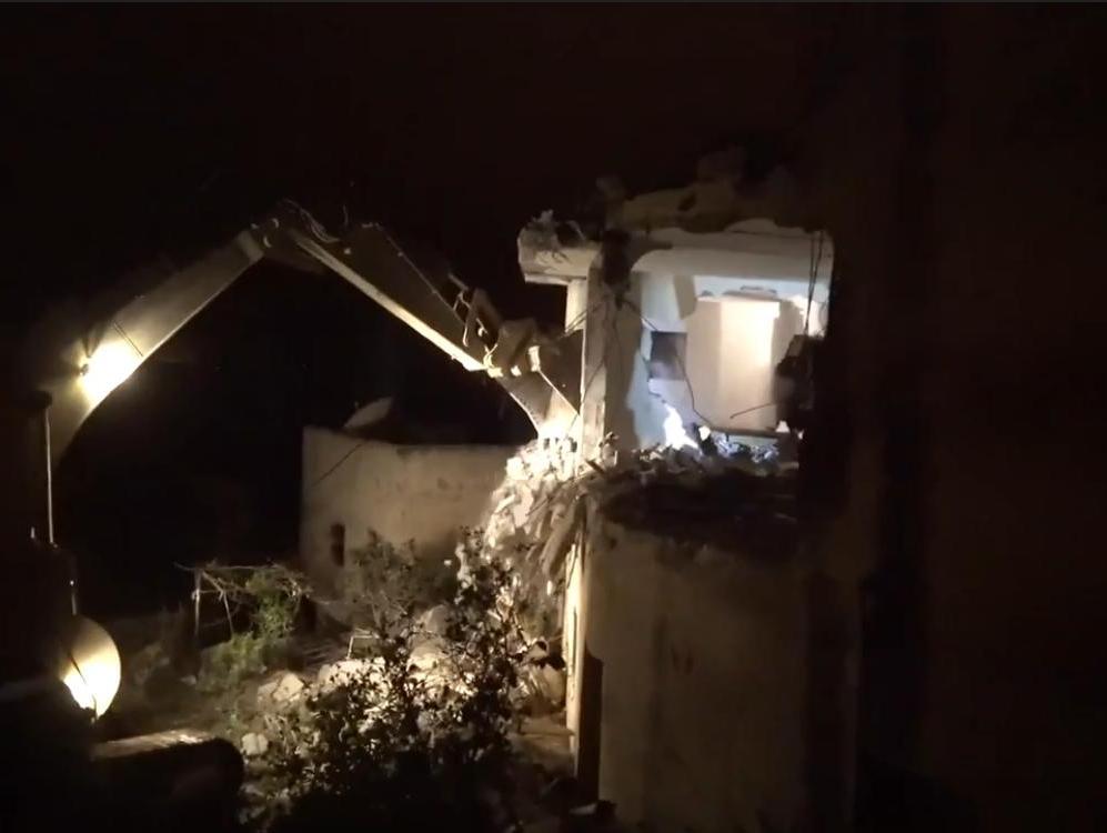 כוחות הביטחון הרסו את דירתו של המחבל מהפיגוע בעפרה