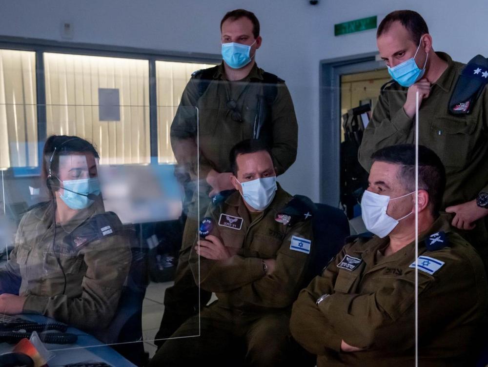 Visite du commandant de l'armée de l'air, le général de division Amikam Nurkin, et du commandant du système de défense aérienne, le général de brigade Ran Kochav (Renko) aux unités du GNA.22 novembre 2020