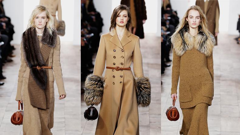 תצוגת מייקל קורס בשבוע האופנה בניו יורק סתיו-חורף 2015-16