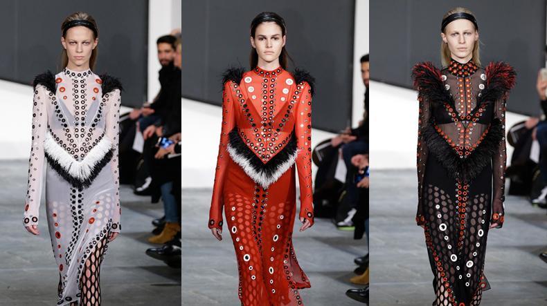תצוגת פרואנזה סקולר בשבוע האופנה בניו יורק סתיו-חורף 2015-16