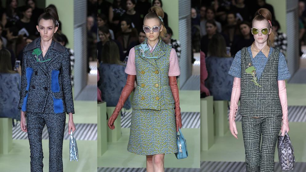 פראדה שבוע האופנה במילאנו סתיו-חורף 2015-16. AP