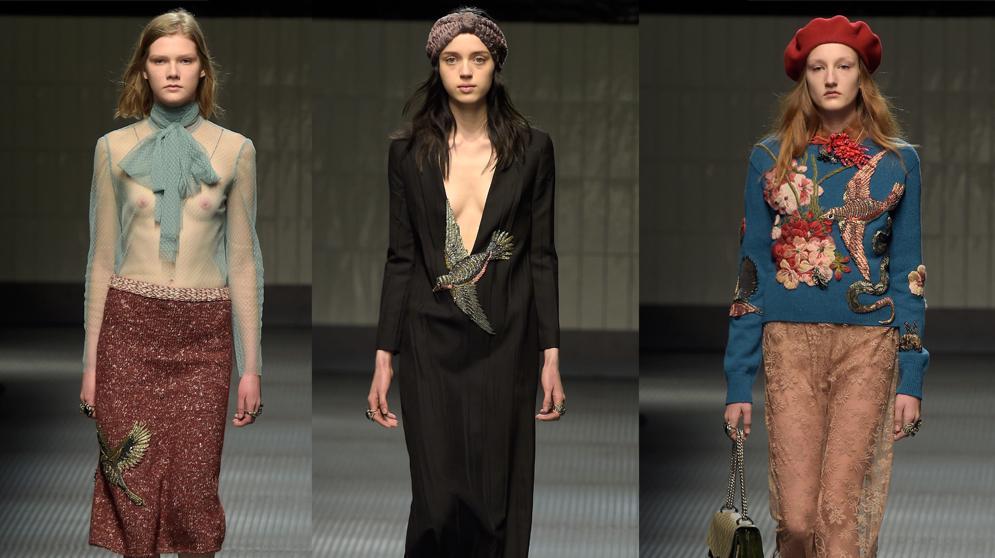 גוצ'י שבוע האופנה במילאנו סתיו-חורף 2015-16. GettyImages