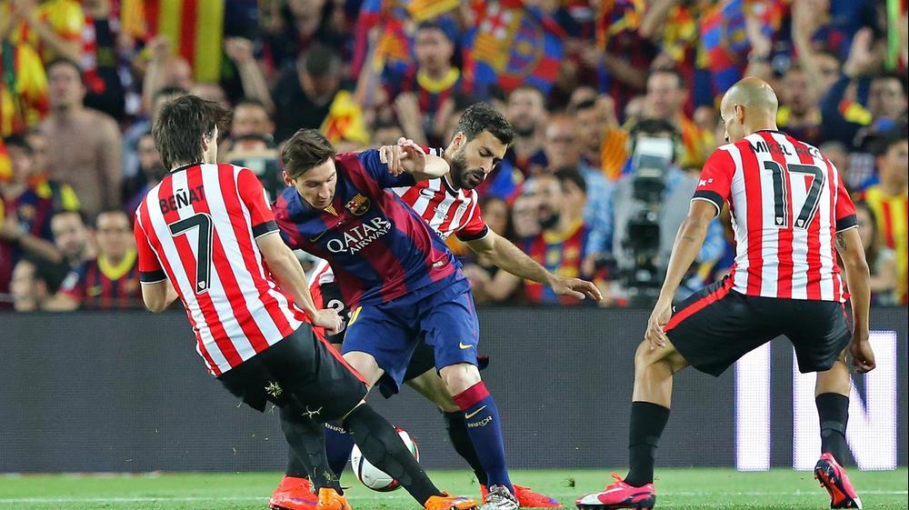 ליאונל מסי ברצלונה בדרך לשער מול אתלטיק בילבאו