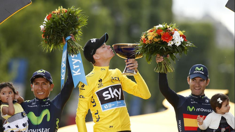 כריס פרום מנצח טור דה פראנס 2015. רויטרס