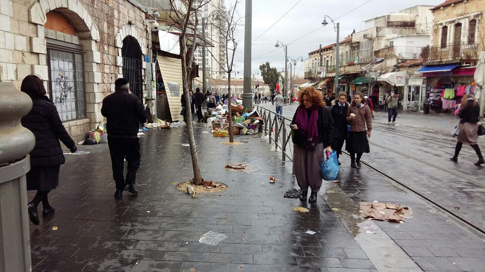 שביתת עובדי הזבל בירושלים. תצפית TPS