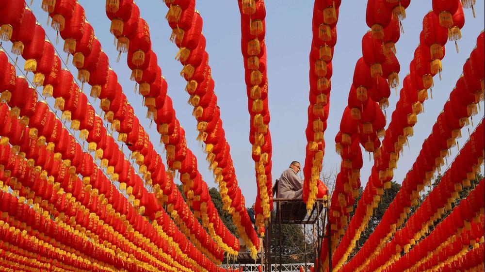 מקדש בג'יאשינג, מחוז ז'הג'יאנג, סין, 3 בפברואר 2016. רויטרס