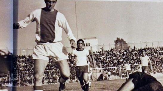 יוהאן קרויף במדי אייאקס מול נבחרת ישראל, 1967