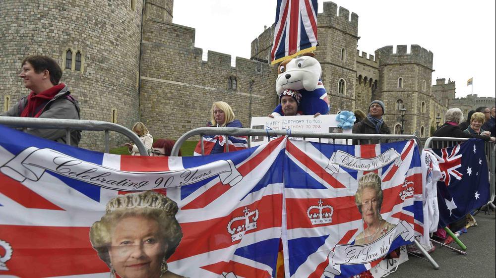 חגיגות בווינזדור, בריטניה, לציון יום הולדתה ה-90 של אליזבת המלכה, 21 באפריל 2016. רויטרס