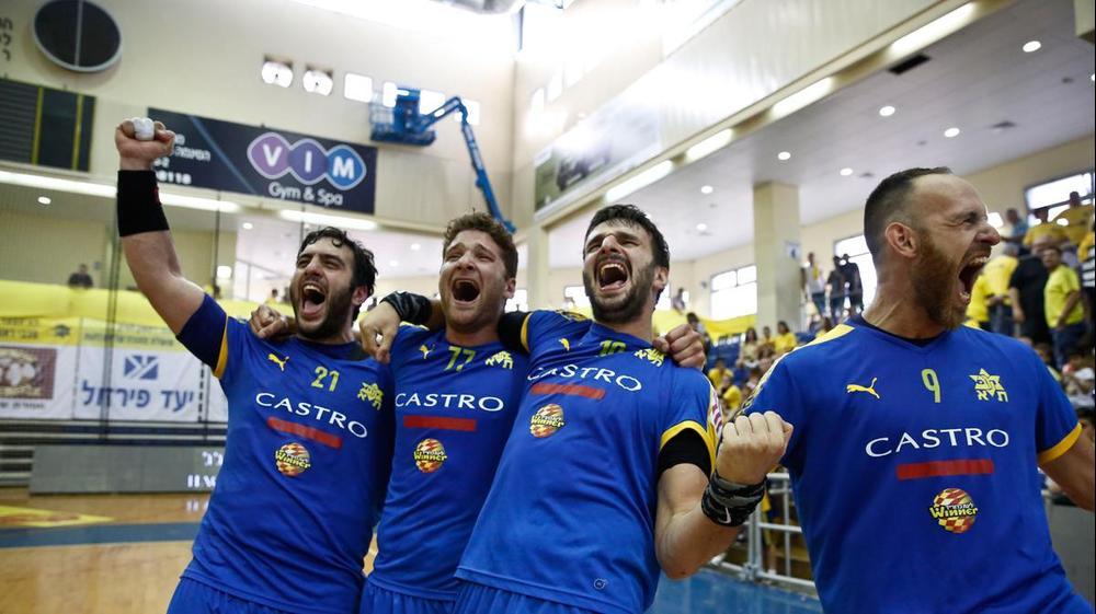 מכבי תל אביב בכדוריד חוגגת אליפות