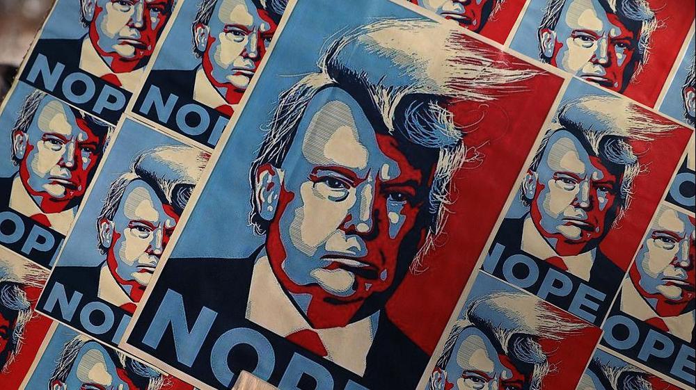 מפגינים נגד טראמפ בוושינגטון, בירת ארצות הברית, ינואר 2017. GettyImages