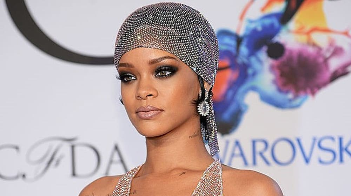 ריהאנה חשופה באירוע. GettyImages