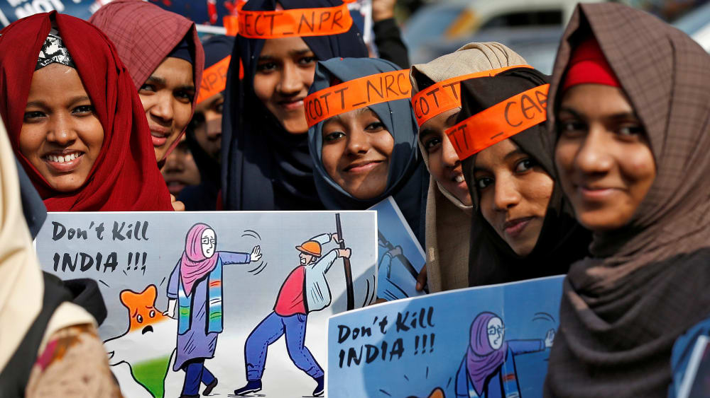 הפגנה נגד חוק האזרחות בקוצ'ין, הודו. רויטרס