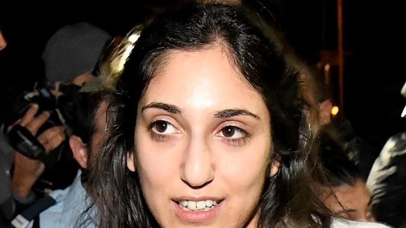 נעמה יששכר מגיעה לביתה ברחובות, 30 בינואר 2020. ראובן קסטרו