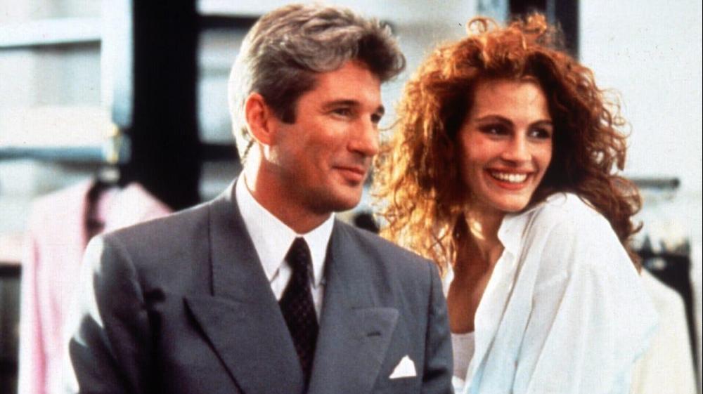 """ריצ'רד גיר וג'וליה רוברטס בסרט """"אישה יפה"""", 1990. imdb"""