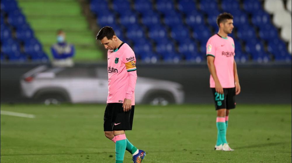 ליאונל מסי, ברצלונה, מאוכזב