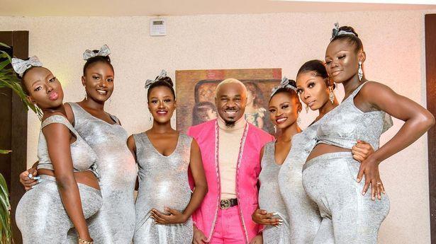הגיע לחתונה עם שש נשים בהריון - וטען שהוא האבא של כולם. prettymikeoflagos, צילום מסך