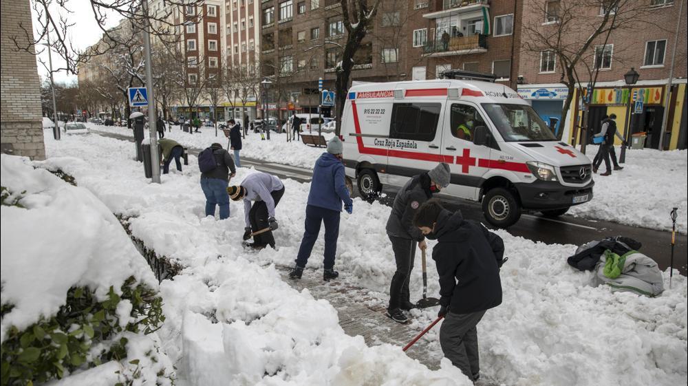Снег в Мадриде. Pablo Blazquez Dominguez, GettyImages