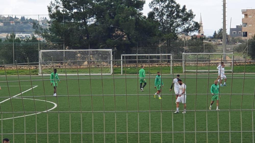 מכבי אחי נצרת מול בני ריינה במשחק אימון בזמן הסגר. שלומי גבאי