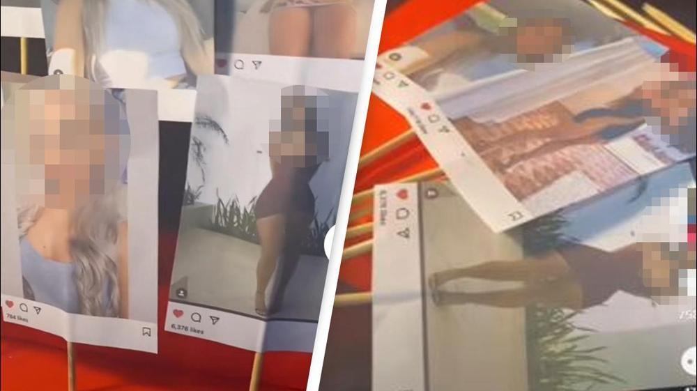 אישה מציגה את המתנה שהכינה לבן זוגה לחג האהבה. gr93la/TikTok, צילום מסך