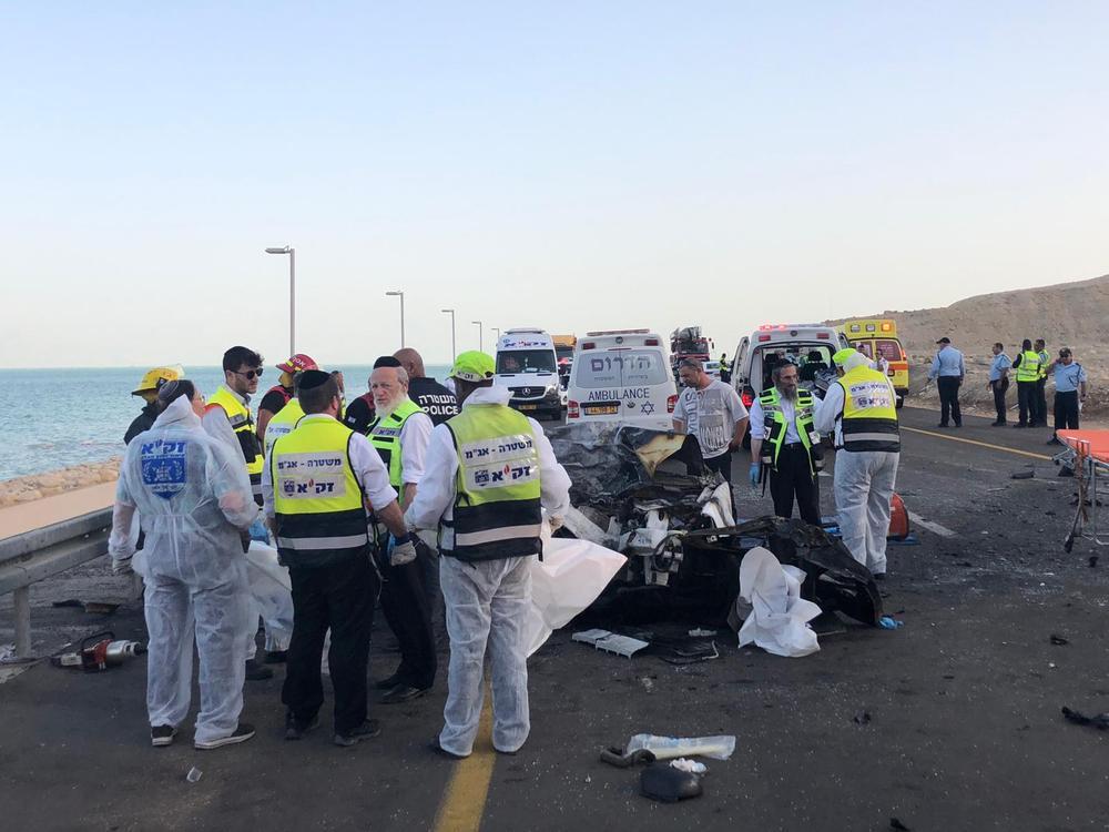 תאונה סמוך לים המלח 30 באוקטובר 2018 (מערכת וואלה! NEWS , דוברות זק?א)