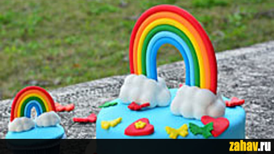 Радуга и облака из сахарного теста - Zahav.ru Салат