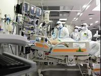 Service des patients Corona de l'hôpital Hasharon de Petah Tikva, 4 mai 2020 (Photo: Reuven Castro)