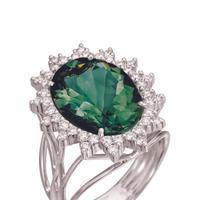 """טבעת יהלום משובצת באבני אגת. רויאלטי, יח""""צ"""