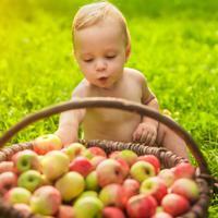 תינוק אוכל פירות. ShutterStock