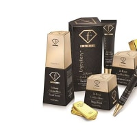 "ערכת מוצרי הזהב 24K של Fashion TV Cosmetics. יח""צ, יח""צ"