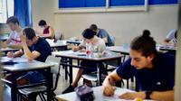 בחירת בגרות במתמטיקה בתיכון בתל אביב 29 ביוני 2020. אבשלום ששוני/פלאש90, פלאש 90