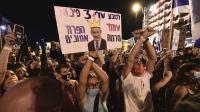 מפגינים נגד ראש הממשלה בנימין נתניהו, בלפור, ירושלים, 29 באוגוסט 2020