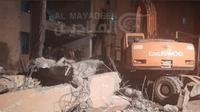 נזקי תקיפת חיל האוויר במזרח סוריה 13 בינואר 2021. אל מאיידין, אתר רשמי