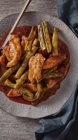 תבשיל חזה עוף ושעועית ירוקה