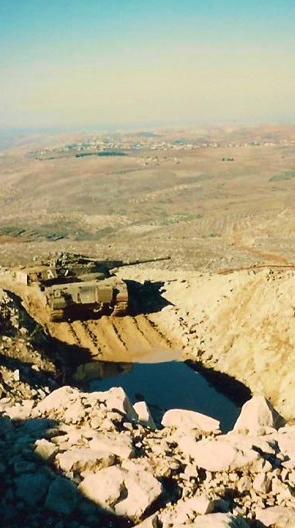 טנק בעמדה הדרום-מערבית של מוצב הבופור
