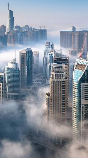 גלישת עננים בדובאי. Shutterstock, ShutterStock