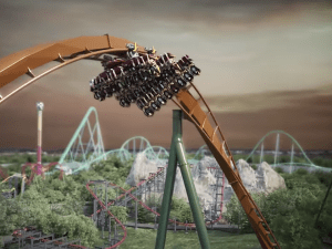 רכבת ההרים yukon striker בקנדה
