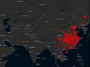 המפה המצמררת שמציגה את התפשטות וירוס הקורונה