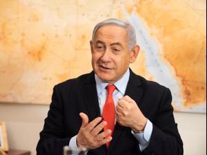 """ראיון של ראש הממשלה, בנימין נתניהו, בית רה""""מ, ירושלים 28 בפברואר 2020"""