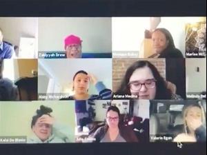 סרטון ויראלי של שיחת זום