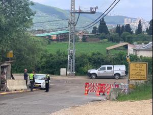 מחסום הוצב בגבול כפר חסידים רכסים, 10 באפריל 2020