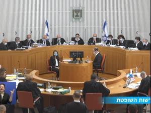 """בג""""ץ דן בעתירות נגד ההסכם הקואליציוני בין הליכוד לכחול לבן"""