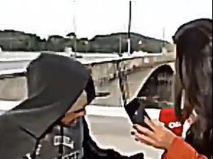 כתבת  נשדדת בשידור חי. CNN, צילום מסך