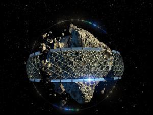 הדמייה של כרייה באסטרואיד