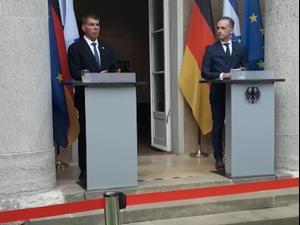 אשכנזי בגרמניה: מדיניות ישראל עברה באופן ברור מסיפוח לנורמליזציה 27.8.20