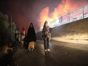 שריפה במחנה הפליטים הגדול ביוון, חשד להצתה  9.9.10